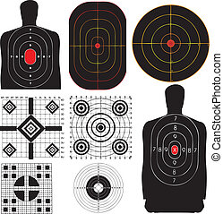 Targets - A professional set targets for training. Vector...