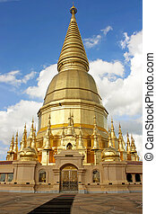 Wat Phra Bat Huai Tom. Places of worship Buddha Relics...