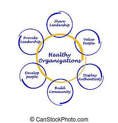 sano, organizaciones