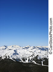 Ski trails on mountain. - Scenic of ski trails on mountain.