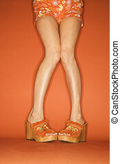 Woman\'s legs and feet. - Legs and feet of Caucasian...