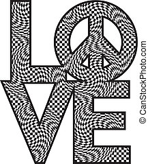 Love Peace_Checkered