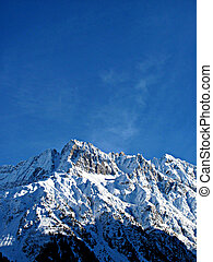 Snowy Alps - Mountains top - Snow on the top of the...