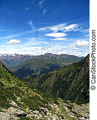 Italian Alps - Climbing to the top - A view of and from the...
