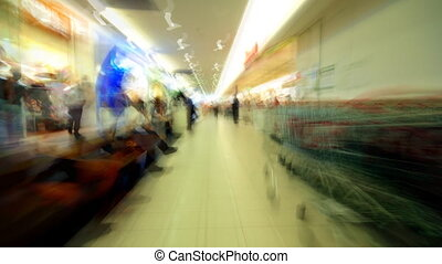 subjective shopping center time lapse - subjective shopping...