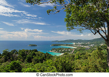 Karon view point, Phuket, Thailand - Sunny day at karon view...