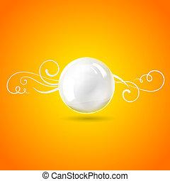Sphere perl ball. Vector illustration.
