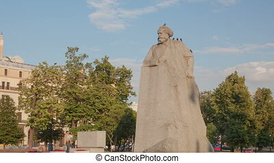 Kar Marx Monument hyperlapse - Teatralnaya Square, Moscow,...