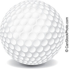 Golf Ball - A white golf ball isolated on a white background...