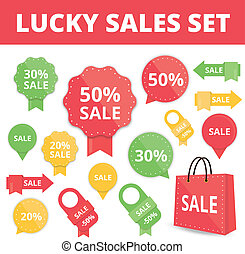 Set of Sale Labels and Badges