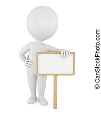 3d man with empty board