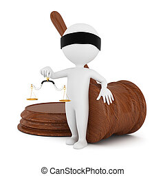 3d man with gavel and scales