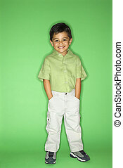 Portrait of standing boy - Hispanic male child portrait