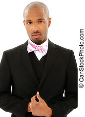 Attractive Black Man in Suit