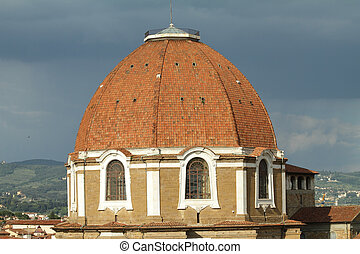 dome of Medici Chapel, Florence, Italy