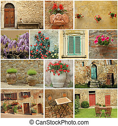 Bella Toscana collage