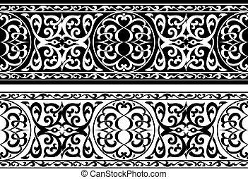 árabe, o, persa, ornamento