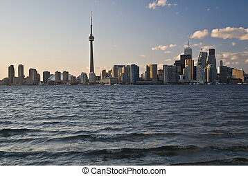 Toronto city scape - Toronto downtown view from Lake Ontario