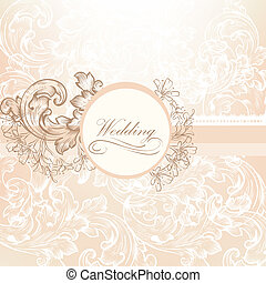 Wedding vector  design in vintage s