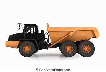 earth mover vehicle - 3D illustration of isolated earth...