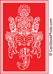 Lord Ganesha. - Lord Ganesha in red.
