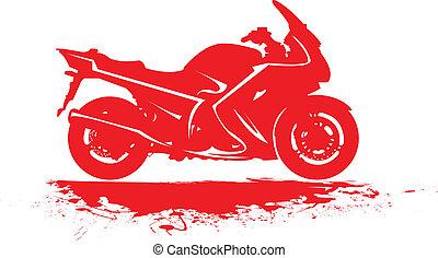 Sport motorbike - Sport motorbike in silhouette