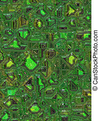 circuit green background - illustration of the circuit green...