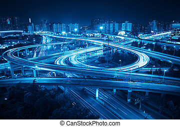 interchange overpass in shanghai - interchange overpass at...