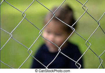 humano, Tráfico, niños, -, concepto, foto