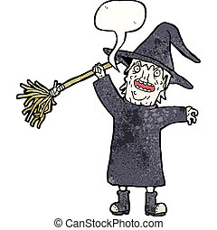 spooky witch cartoon