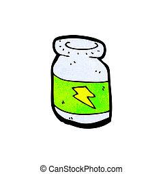 bottle of pills cartoon