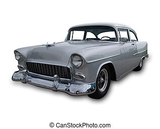 American Classic 1 - Classic American muscle car isolated on...