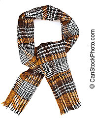 Single scarf against the white background