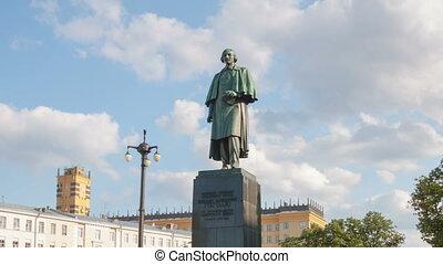 Writer Gogol Monument hyperlapse - Gogolevsky Boulevard,...