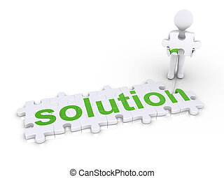 """Person about to finish """"solution"""" puzzle"""