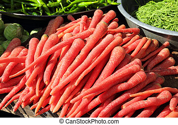 red carrot on market in india