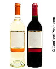 bianco, bottiglie, rosso, vino