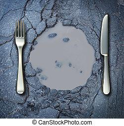 pobreza, y, hambre