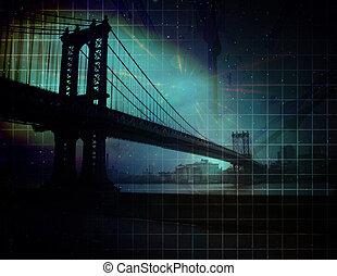 City Bridge Abstract