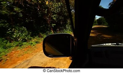 Dirt road vehicle dashboard