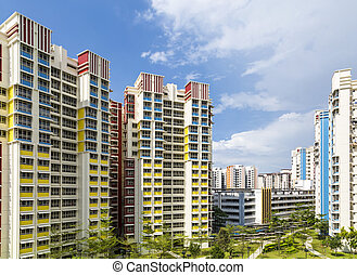 color residential estate - A color residential estate with a...