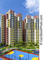 colorful neighborhood estate - A new colorful neighborhood...