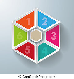 Six Hexagon Triangles With Centre - Hexagon triangles with...