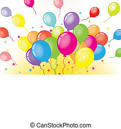Card with balloons