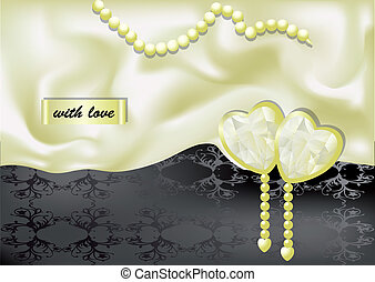 holiday background with white silk