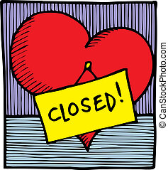 heart is closed - nice heart is closed as interesting...