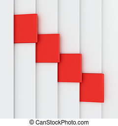 Red bookmarks on the white pages