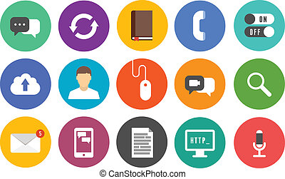 Modern communication icons set - Vector collection of...