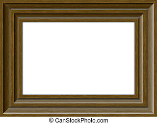 Wooden frame - Brown Wooden frame