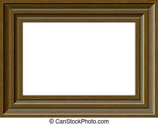 Wooden frame - Brown Wooden frame